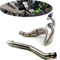 NINJA650 Z650 Motorcycle Full Exhaust System Middle Pipe without Muffler Header For KAWASAKI NINJA 650 2016 2017 2018 2019 year