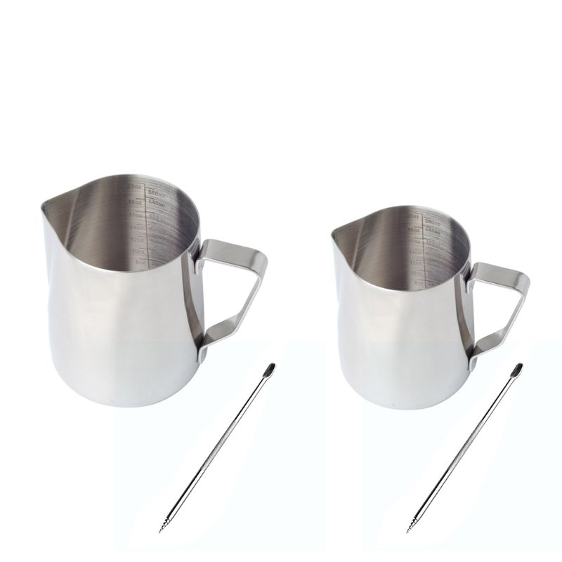 SKYMEN 350ml/600ml Stainless Steel Milk Frothing Pitcher Espresso Coffee Barista Craft Latte Cappuccino Milk Cream Cup Frothing