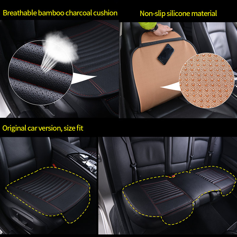 Image 3 - Leather Car Seat Covers Waterproof Universal Seat Protector for Automobiles Car Seat Cushion Set Mat Auto Accessories BreathableAutomobiles Seat Covers   -