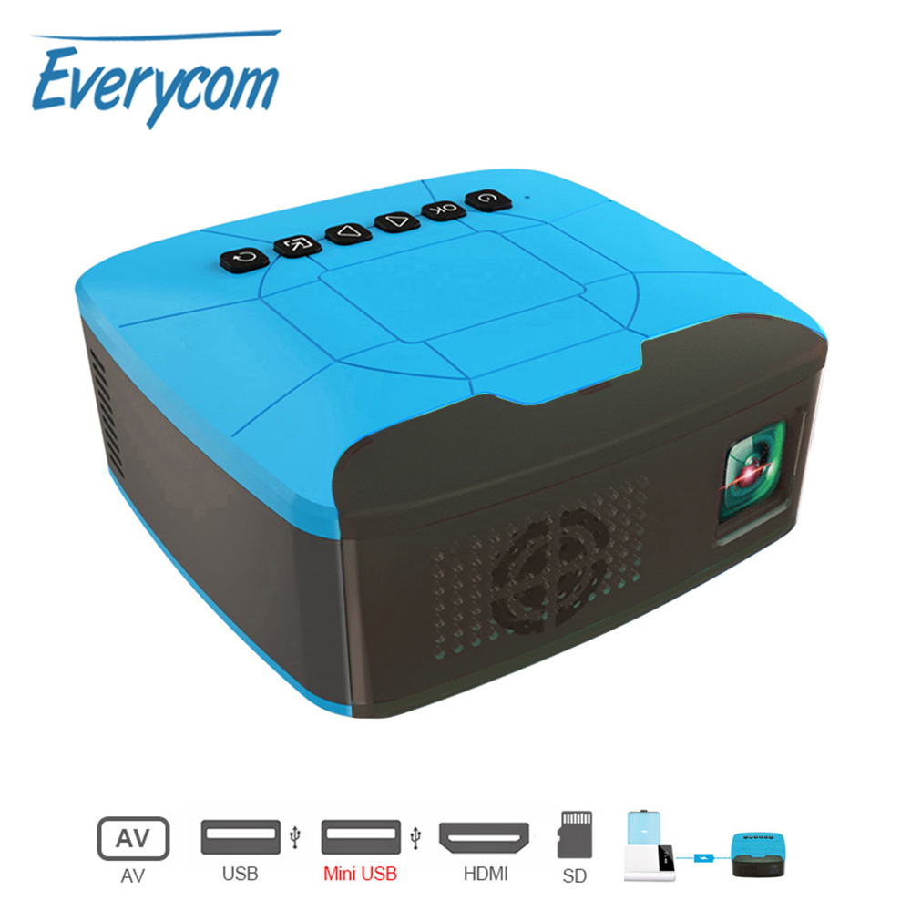 Everycom U20 Mini Proyectores HDMI USB AV Video Proyector portátil para el hogar película Teatro Proyector portátil