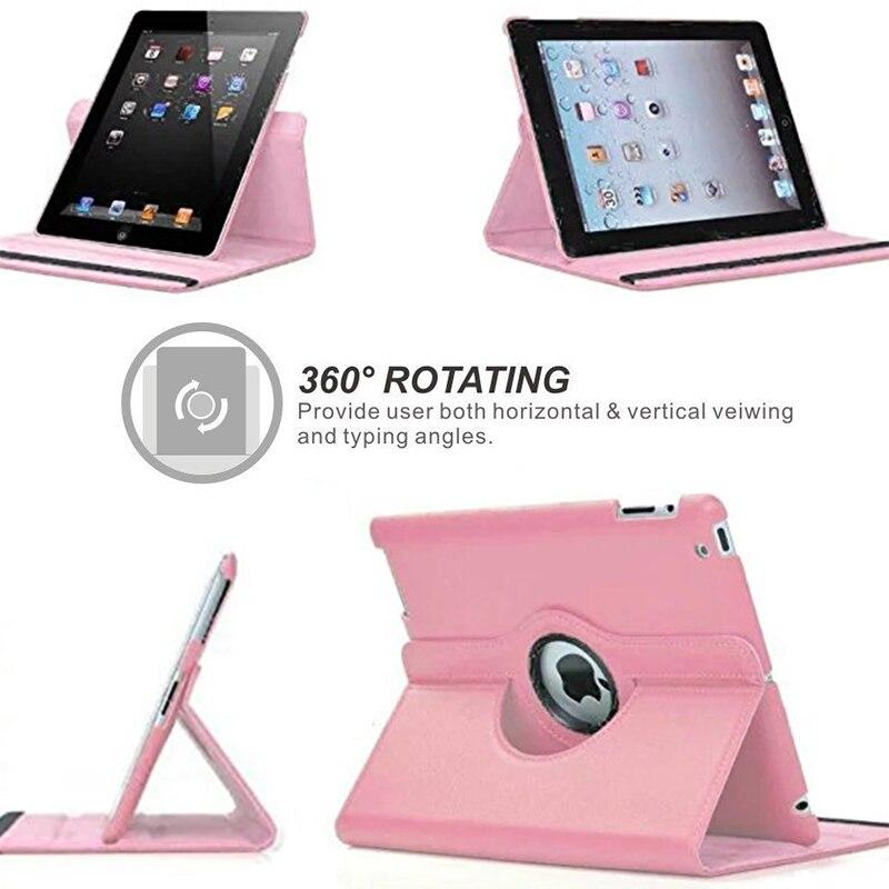 Para ipad 2 3 4 caso 360 graus de rotação capa de couro do plutônio para apple ipad 2 3 4 suporte casos inteligente tablet a1395 a1396 a1430 3