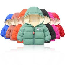 цена на Baby Boys Jackets 2020 Autumn Winter Kids Jacket Girls Warm Thick Hooded Coat Children Outerwear 1-6Y Toddler Girl Boy Clothing