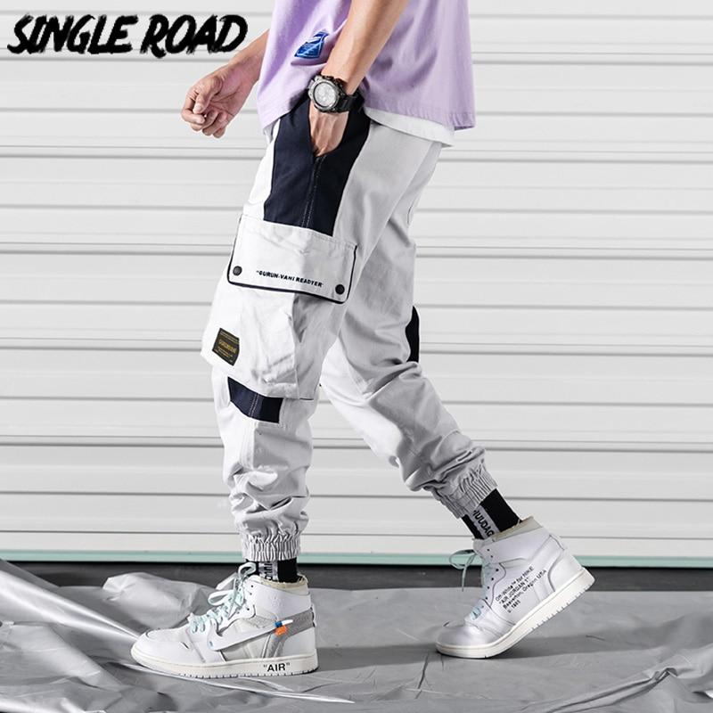 SingleRoad Men's Cargo Pants Men 2020 Side Pockets Hip Hop Japanese Streetwear Harem Pants Men Trousers Joggers Male Sweatpants