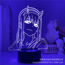 Darling In The Franxx Anime 3d Lamp Zero Two Figure Nightlight Kids Child Girls Bedroom Decor Light Manga Gift Night Light Lamp