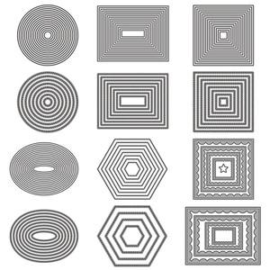 Basic Border Frame Set Metal Cutting Dies for DIY Scrapbooking Photo Album Decorative Embossing Paper Card Crafts Die Cut 2019(China)