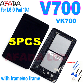 5 PCS For LG G Pad 10.1 V700 VK700 LCD Display Touch Screen Digitizer Assembly with Frame V700 LCD LD101WX2 for lg g pad lg v700 vk700 v700 touch screen digitizer glass replacement free shipping