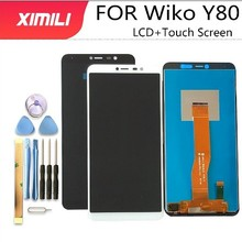 5.99 Wiko Y80 LCD Display +Touch Screen Assembly 100% Original New Tested Digitizer Glass Panel Replacement For Wiko Y80 Phone