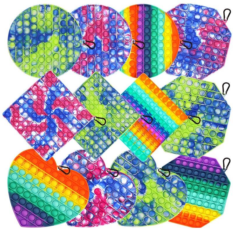 Fidget-Toys Pendant Schoolbag Relief-Toy Bubble Anti-Stress Squishy Pop-It-Push Popit Soft img5