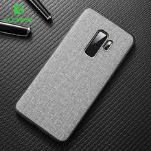 Floveme Doek Case Voor Samsung S8 S9 Galaxy S9 S8 Plus Luxe Tpu Cover Voor Samsung S10 Plus S10e Note 9 8 S7 Rand Coque(China)