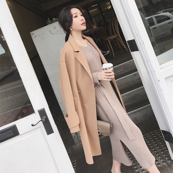 Korean Fashion Sweater Dress Women Knitted Sweaters Dresses Elegant Women High Waist Sweater Dress Plus Size Vestidos De Fiesta 3