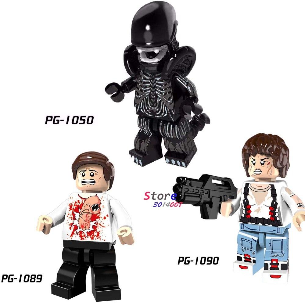 Single Christmas Parasite Alien Ellen Ripley Building Blocks Models Bricks Toys For Children Kits
