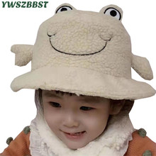 New Fashion Baby Hats with Crab Print Autumn Winter Warm Plush Girls Boys Caps Children Hat Cap