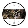 Часы в стиле стимпанк настенные часы Cogwheels настенные часы с принтом механический инженер домашний декор механик подарок