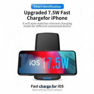 Image 2 - حامل شاحن لاسلكي طراز ROCK W3 Pro مع مروحة تبريد لهاتف iPhone 11 X Max XS XR سامسونج s10 S9 S8 Plus S7 Note 9 حامل 7.5 واط/10 واط