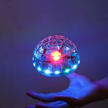 2021 latająca piłka Spinner Ball UFO Boomerang szybująca zabawka latająca Mini Drone LED Hand gest Control prezent zabawki dla dzieci dorosłych tanie tanio CONUSEA CN (pochodzenie) About 10meters inny Mode2 2 KANAŁY 4-6y 7-12y 12 + y 18 + Instrukcja obsługi Kabel USB Z tworzywa sztucznego