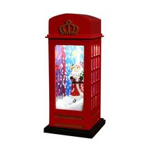 Bus London Phone Booth Light LED Night Light Glowing With Christmas Music Battery & USB Powered Santa Claus For Home Decoration