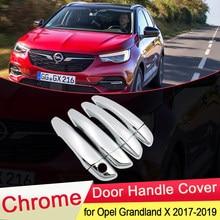 Couvercle de poignée de porte chromé, accessoires de luxe, autocollants de style, pour Opel Vauxhall Grandland X 2017 2018 2019