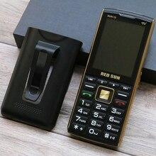 """Бара тонкий телефон для пожилых людей с большими Дисплей 2,"""" аналоговый видеорегистратор ТВ 3 Sim волшебный голос SOS быстрого набора двойной фонарик PowerBank Бесплатный Пояс без застежек"""