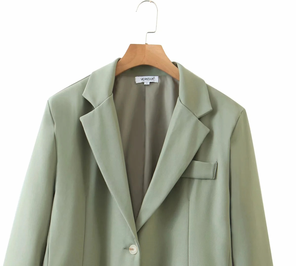 2020 new women's suit solid color jacket Autumn casual single-breasted long-sleeved office blazer Fashion all-match coat