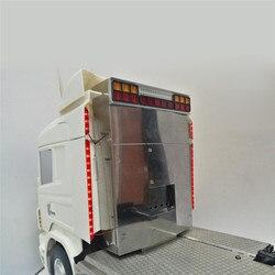 ด้านข้างโคมไฟด้านข้าง LED Light Bar สำหรับ 1/14 TAMIYA Scania 620 56323 730 470 RC รถบรรทุกอุปกรณ์เสริมไฟเตือน