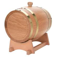 Barril de 3L Vintage madera de roble madera barril de vino dispensador para whisky(China)