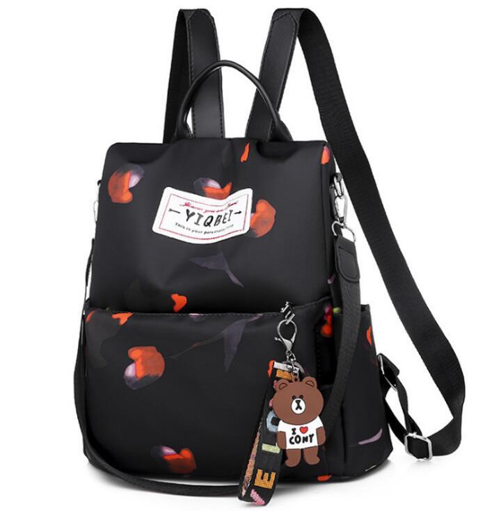 H92427d409a754d41aa42ab2b52a861ffi 2019 New Women Backpacks Vintage Korea Brand Design Bag Travel Anti Theft Backpack Nylon High Quality Small Rucksack ZZL188