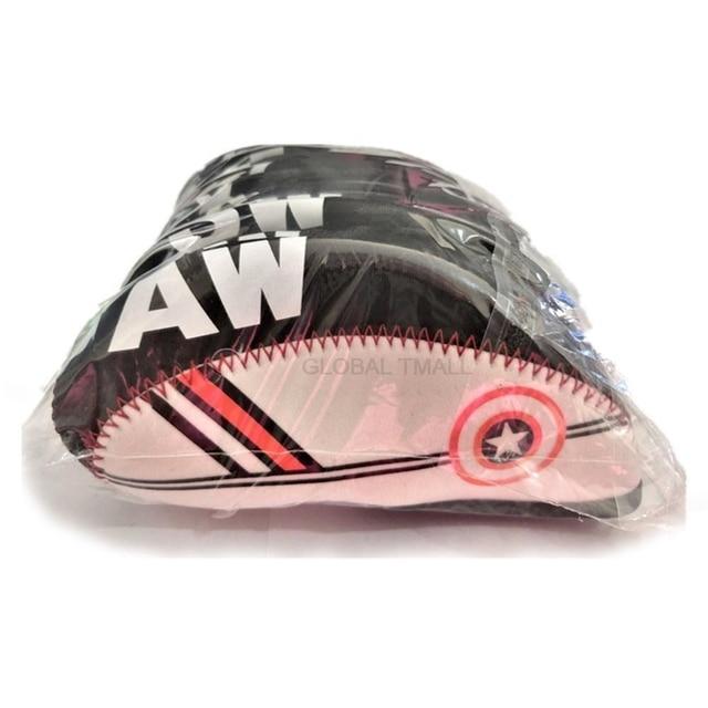 Professional Golf Club Iron Head Cover 10pc/set golf ball games golf Head Protector Accessories 4 5 6 7 8 9 SW 6