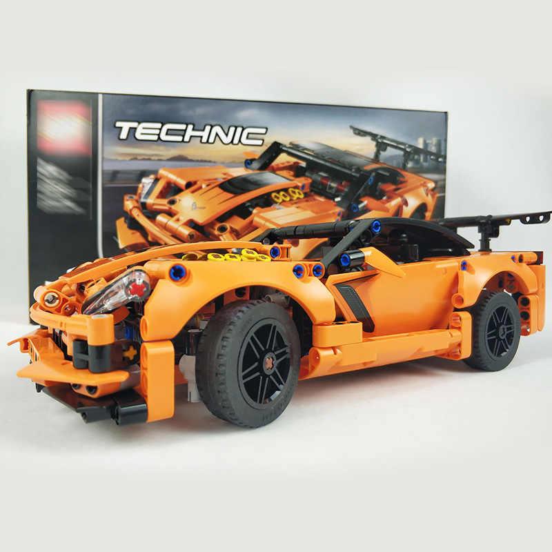 C3 Corvette Building bricks blocks Technic Model Sport Vette Red Racing Car