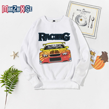 New Arrival Childrens Sweater 2019 Autumn Child Clothes Boys Tops Girl Sweatshirt Cartoon Racing Car Print Boy Casual Clothing