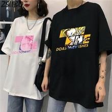 Maglietta da uomo coppia T-shirt Unisex giapponese Anime Goku friez Buu Piccolo stampa T-shirt manica corta Streetwear