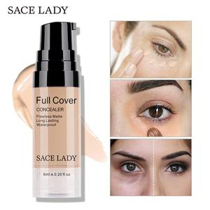 SACE LADY Liquid Concealer Makeup Full Cover Eye Dark Circles Corrector Cream Coverage Face Base Make Up 6ml Cosmetic Wholesale