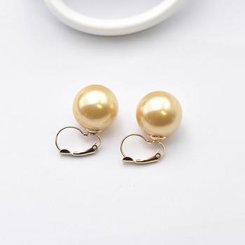 Σκουλαρίκια με μεγάλο μαργαριτάρι