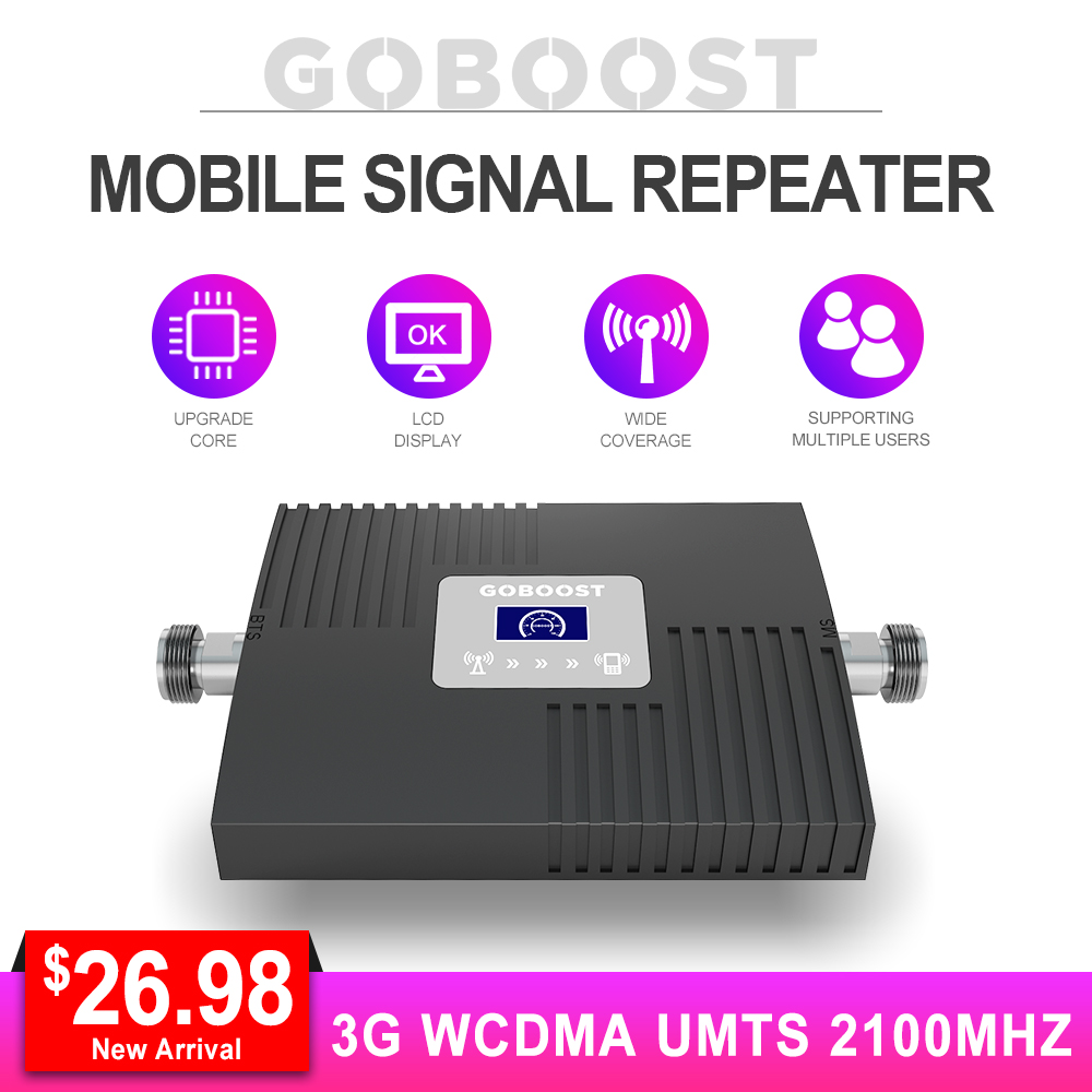 Cellular Signal Repeater UMTS 2100MHZ Network Cellphones Booster Signal 3G Amplifier LCD Display Communication Internet *
