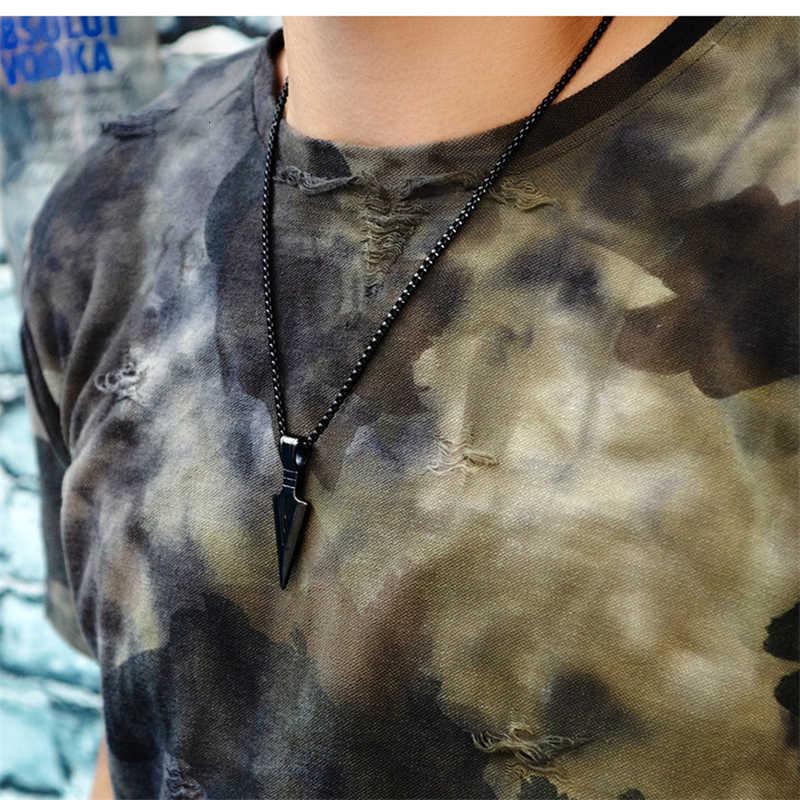 Männer Mode Halskette 2019 Kreative Pfeil Kopf Anhänger Kette Charme Halsband Männlichen Trendy Schmuck collier halskette collares naszyjnik