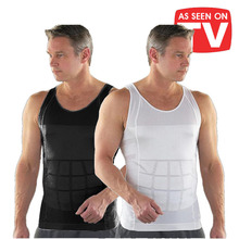 Men Waist Trainer Slimming Body Shaper Tummy Vest men Shapewear shirt Underwear Cincher Bodysuit Dropshipping