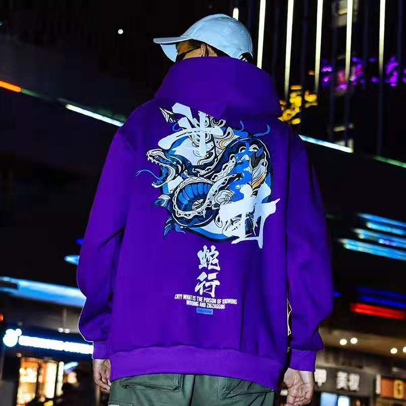 NiceMix Men's Hooded Sweatshirt Ins Korean Style Of Loose Large Size Student Hip-hop Street Dance Youth Jacket Tide Brand