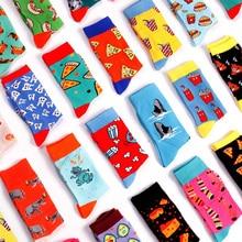 Women Socks Japanese Cotton Colorful Cartoon Cute Funny Happy kawaii Pizza popco