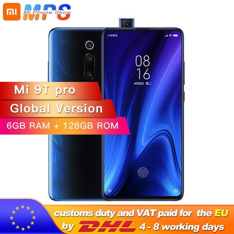 Version mondiale Xiao mi 9T Pro 6 go 128 go (rouge mi k20 PRO) Smartphone Snapdragon 855 4000mAh 48MP caméra arrière AMOLED6.39