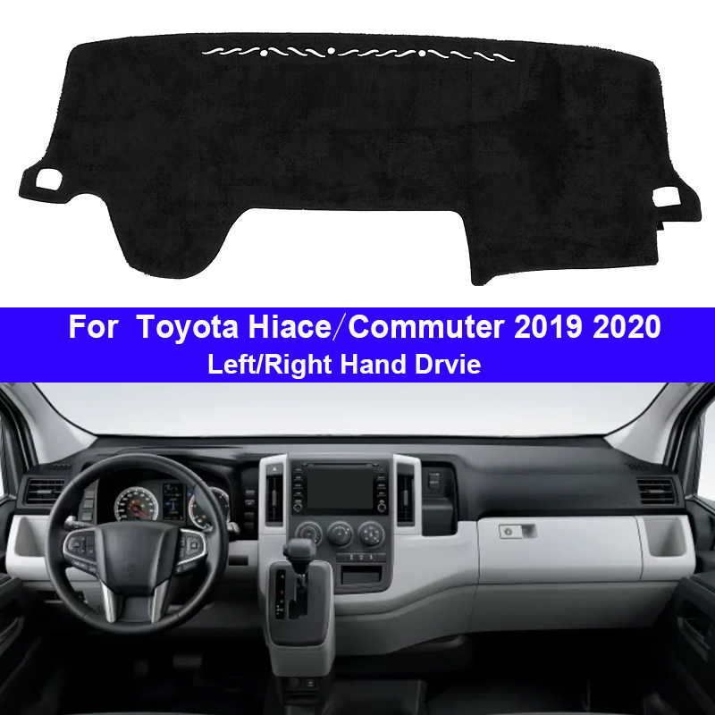 2 Layers Car Dashboard Cover Dash Mat Carpet Cape For Toyota Hiace Commuter 2019 2020 LHD RHD Auto Dashmat Sunshade Anti-dirty