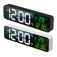 LED Alarm Clock Watch With USB Port Table Digital Mirror Alarm Clock Watch For Bedrooms Snooze Function Electronic Desk Clocks