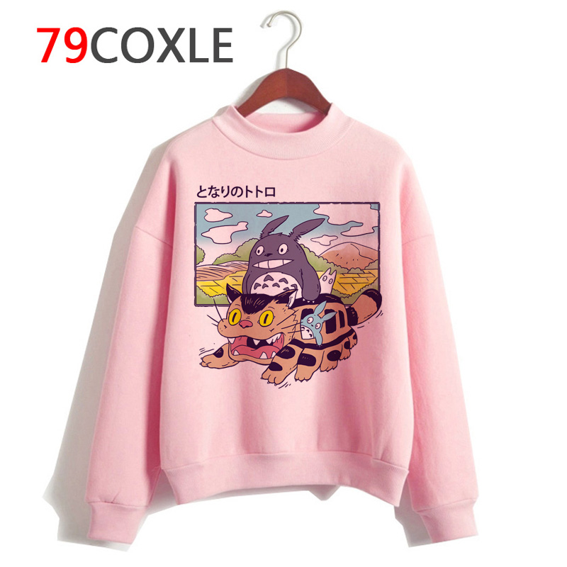 Totoro Studio Ghibli Kawaii Hoodies Harajuku Funny Anime Women Cartoon Sweatshirt Ullzang 90s Fashion Hoody Graphic Female Cute