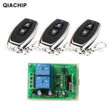 QIACHIP 433 Mhz Universel Sans Fil Commutateur de Commande À Distance DC 12 V 2CH RF Relais Récepteur Module + 2 CH RF 433 Mhz À Distance Émetteur