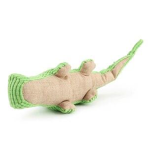 Image 2 - Krokodyl zabawki dla psów pluszowy miękki kot piszcząca zabawka zabawka dla zwierząt interaktywne ugryzienie zabawki dźwiękowe Chihuahua zabawki dla szczeniąt