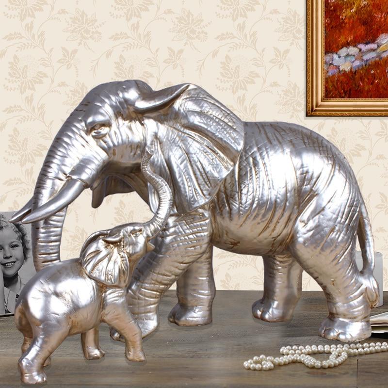 CREATIVE RESIN ELEPHANT STATUE HOME DECOR CRAFTS ROOM ...