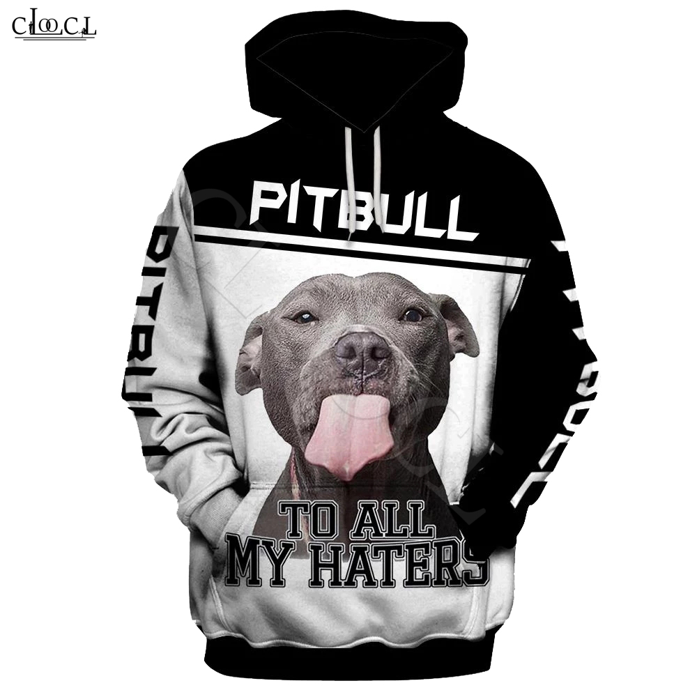 2020 Fashion Animal Pitbull To Haters 3D Full Print Hoodie Men Women Harajuku Casual Pet Dog Design Hooded Coat Drop Shipping