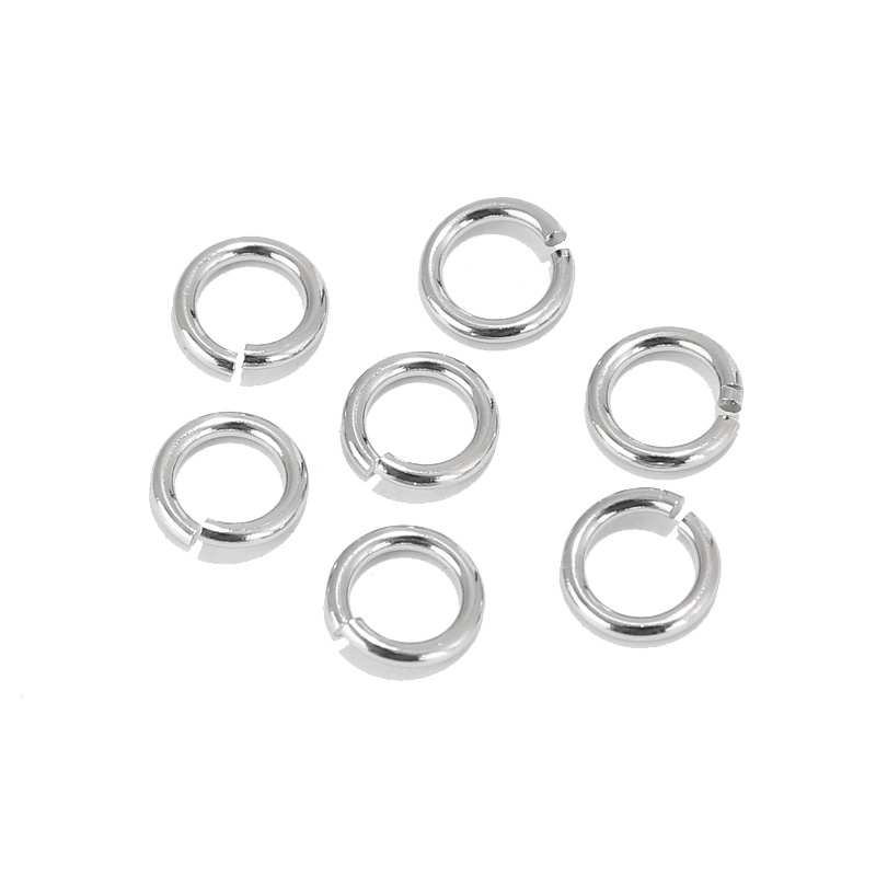 200pcs Stainless Steel Open Ring 3.5mm 4mm 5mm 6mm 7mm 8mm 9mm Jump Rings DIY Making Jewelry Connector Accessoires Ring Findings