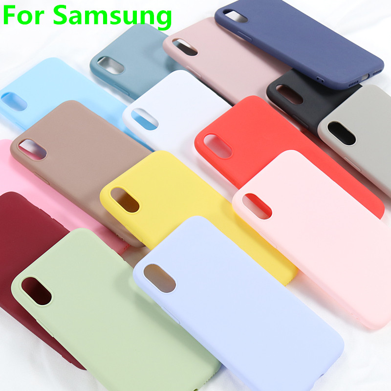 Slim Candy Case for <font><b>Samsung</b></font> Galaxy S8 S9 S10 Plus S10e A20e <font><b>2019</b></font> A10 A20 A30 <font><b>A40</b></font> A50 A60 A70 A80 M10 M20 M30 M40 Silicone <font><b>Cover</b></font> image