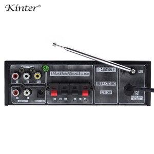 Image 5 - Kinter M1 wzmacniacz audio 2.0CH z USB SD FM MIC 3.5mm wejście może odtwarzać MP3 MP4 MP5 zasilanie 220 240V metalowa obudowa