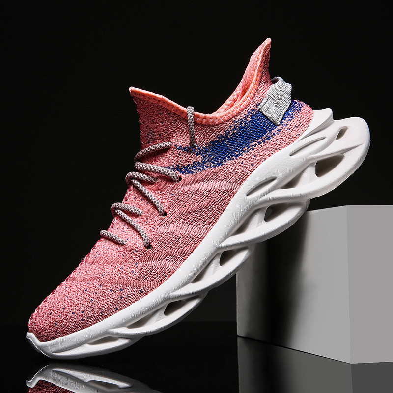 Unisex shoes mesh coconut flying weave breathable running shoes new fashion casual shoes for men and women breathable mesh soft in Men 39 s Casual Shoes from Shoes