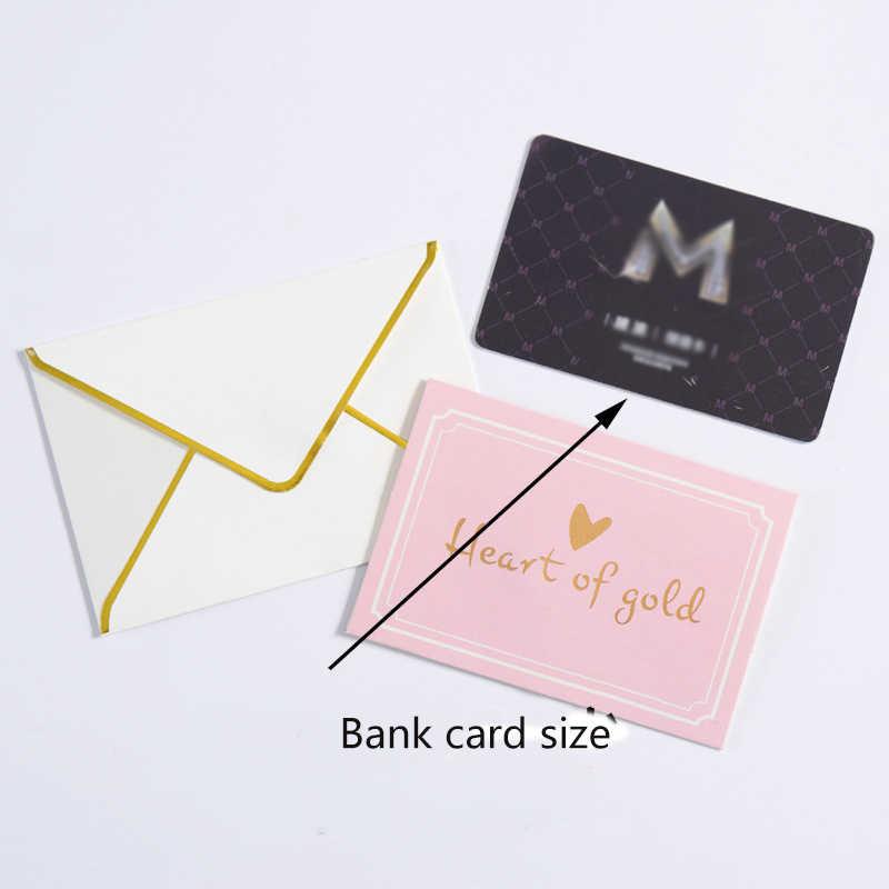Noel ve doğum günü tebrik kartı altın sıcak damgalama yaratıcı yeni yıl teşekkür kartı parti düğün davetiyeleri mektup kartları